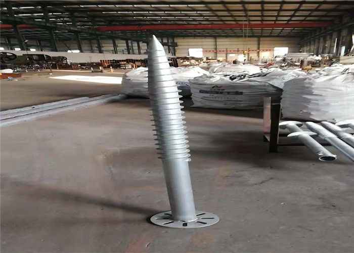 Deep Foundation Helical Screw Piles , PV Mount Galvanized Earth Screw Anchors