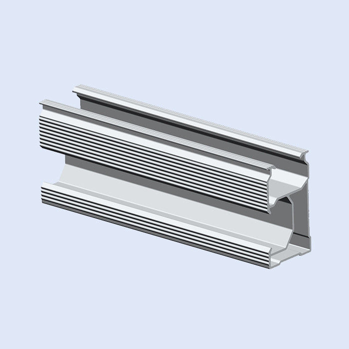 Extruded Aluminum Slotted Rail For Photovoltaic Module Mounting Systems OEM
